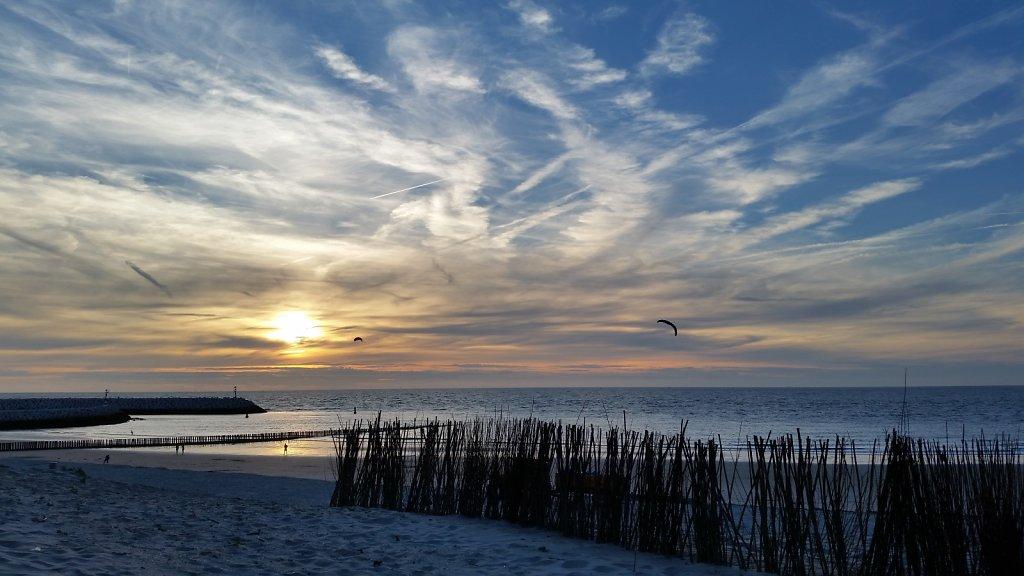 Sunset in Cadzand